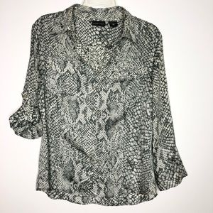 NY & C snake skin print long sleeve shirt